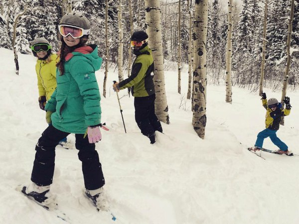 Skiing with kids and family